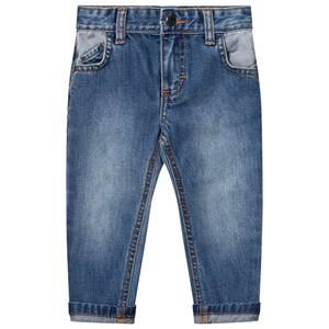 Billybandit Boys Bottoms Blue Slim Fit Contrast Jeans