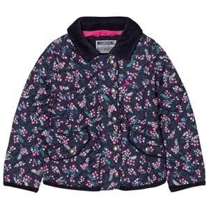 Joules Girls Coats and jackets Navy Navy Floral Print Quilted Jacket
