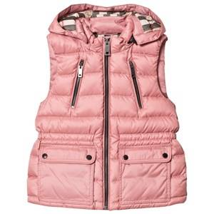 Burberry Girls Coats and jackets Pink Pale Rose Down Gilet with Detachable Hood
