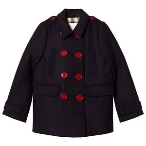 Burberry Girls Coats and jackets Navy Cashmere Blend Pea Coat