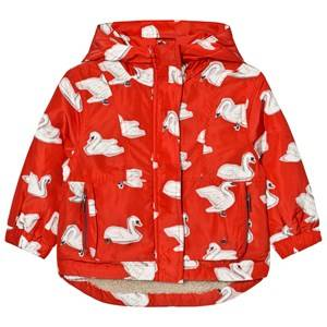 Stella McCartney Kids Girls Coats and jackets Red Red Swan Print Rhonda Hooded Coat