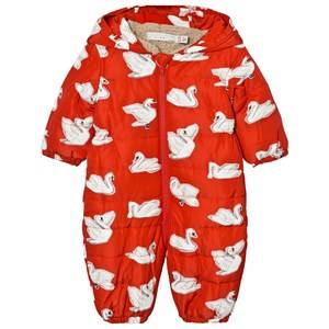 Stella McCartney Kids Girls All in ones Red Red Swan Print Cymbals Snowsuit