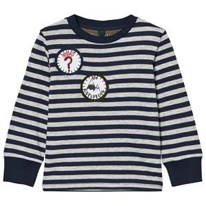 Stella McCartney Kids Boys Tops Navy Navy White Badge Detail Crumble Tee