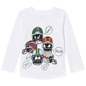 Stella McCartney Kids Boys Tops White White Helmet Print Max Tee
