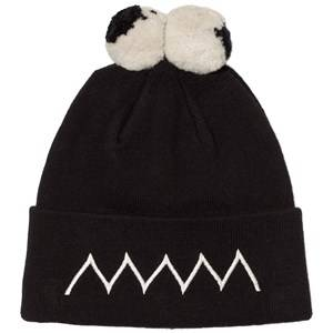 Stella McCartney Kids Boys Headwear Black Black Eyes Tweedle Pom Pom Hat