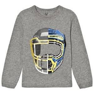 Stella McCartney Kids Boys Tops Grey Grey Helmet Mascot Print Gene Tee