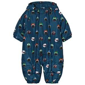 Stella McCartney Kids Girls All in ones Blue Navy Helmet Print Cymbals Snowsuit
