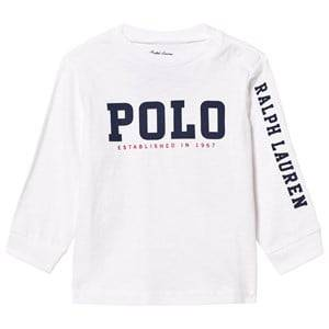 Ralph Lauren Boys Tops White Slub Cotton Jersey Graphic Tee White