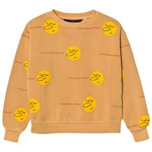 The Animals Observatory Unisex Jumpers and knitwear Yellow Bear Sweatshirt Yellow Faces