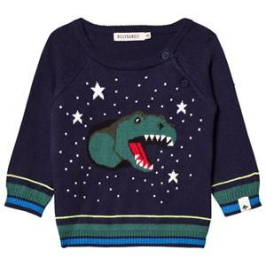 Billybandit Boys Jumpers and knitwear Navy Navy Dinosaur Sweater
