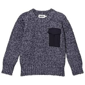Image of Molo Boys Jumpers and knitwear Blue Balder Knit Sweater Navy Blazer