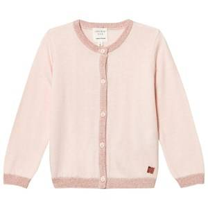 Carrément Beau Girls Jumpers and knitwear Cream Cream Lurex Rib Knit Cardigan