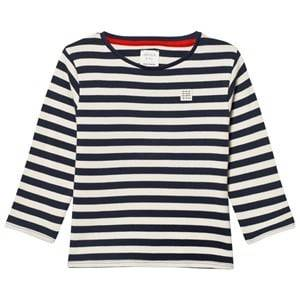 Carrément Beau Boys Tops Navy Navy and White Long Tee
