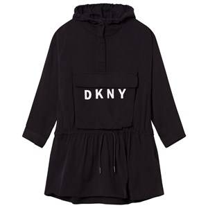 DKNY Girls Dresses Black Black Branded Hooded Dress