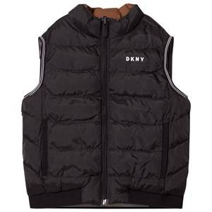 DKNY Boys Coats and jackets Black Reversible Puffer Gilet Black/Brown