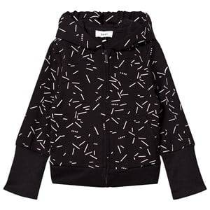 DKNY Girls Jumpers and knitwear Black Black Confetti Print Branded Hoody