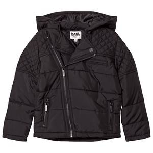 Karl Lagerfeld Kids Boys Coats and jackets Black Black Quilted Biker Puffer Coat