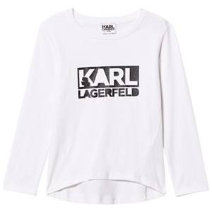 Karl Lagerfeld Kids Girls Tops White White Karl Branded Tee