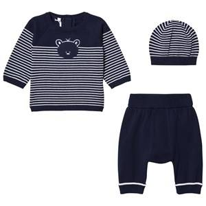 Emile et Rose Boys Clothing sets Navy Lloyd Two-Piece Knit Set in Navy Blue