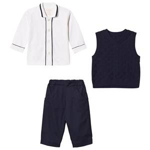 Emile et Rose Boys Clothing sets Navy Layton Navy Three-Piece Outfit