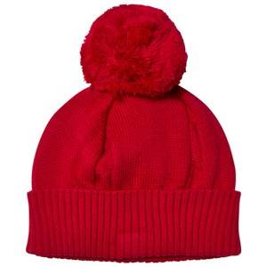 Emile et Rose Girls Headwear Red Red Bobble Hat