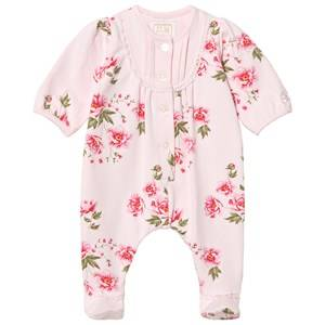 Emile et Rose Girls All in ones Pink Lesley Pink Footed Baby Body with Floral Print