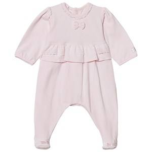 Emile et Rose Girls All in ones Pink Lucia Pink Footed Baby Body with Lace Trim