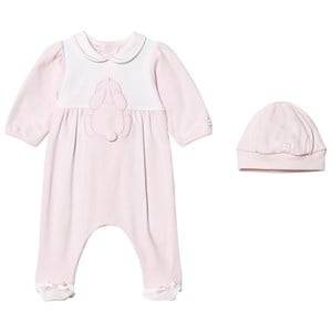 Emile et Rose Girls All in ones Pink Lily Rose Bunny Footed Baby Body