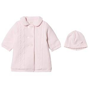 Emile et Rose Girls Coats and jackets Pink Lucy Pink Padded Knit Coat with Hat
