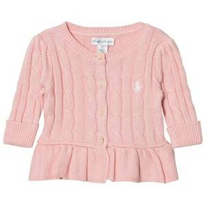 Ralph Lauren Girls Jumpers and knitwear Pink Pink Classic Cable Knit Cardigan