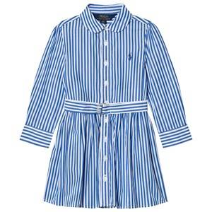 Ralph Lauren Girls Dresses Blue Striped Shirt Dress Blue/White