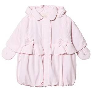 Emile et Rose Girls Coats and jackets Pink Pale Pink Padded Coat with Bows