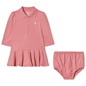 Ralph Lauren Girls Dresses Pink Pink Polo Peplum Dress