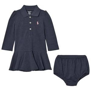 Ralph Lauren Girls Dresses Blue Blue Polo Peplum Dress