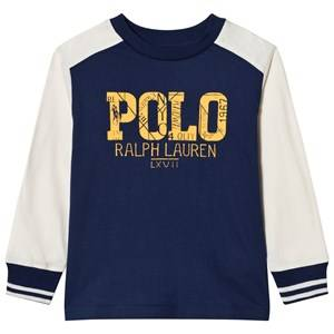 Ralph Lauren Boys Tops Navy Long Sleeve Tee Freshwater