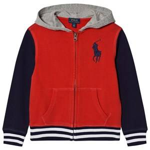 Ralph Lauren Boys Jumpers and knitwear Red Red Colorblock Zip Hoody