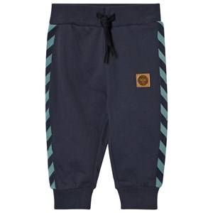 hummelkids Unisex Bottoms Blue Ray Sweatpants Night Blue
