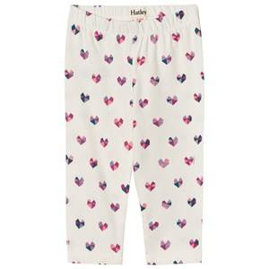 Hatley Girls Bottoms Cream Cream Heart Print Leggings