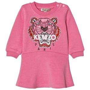 Kenzo Girls Dresses Pink Pink Tiger Embroidered Sweat Dress