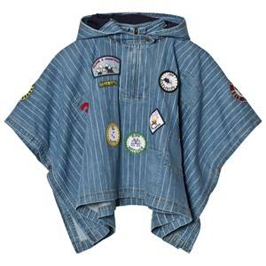 Stella McCartney Kids Unisex Coats and jackets Blue Denim Tambourine Blue Cape with Badge