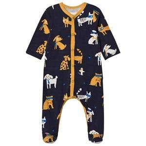 Catimini Boys All in ones Navy Navy Dog Print Footed Baby Body