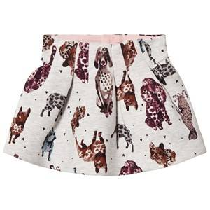 Catimini Girls Skirts Grey Grey Dog Print Skirt