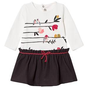Catimini Girls Dresses White White Bird Print Dress