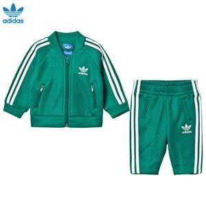 adidas Originals Unisex Clothing sets Green Mesh Infant Tracksuit Green/White