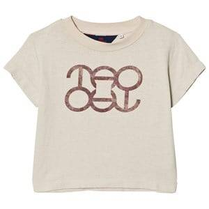 The Animals Observatory Unisex Tops Cream Rooster T-Shirt White Tao Logo