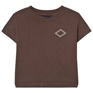 The Animals Observatory Unisex Tops Brown Rooster T-Shirt Brown Diamonds