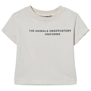The Animals Observatory Unisex Tops Brown Rooster T-Shirt White Tao Uniforms