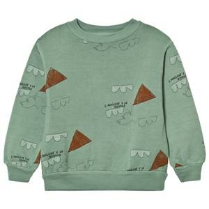 The Animals Observatory Unisex Jumpers and knitwear Cream Bear Sweatshirt Turquoise Kites