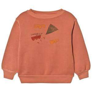 The Animals Observatory Unisex Jumpers and knitwear Orange Bear Sweatshirt Deep Orange Kite