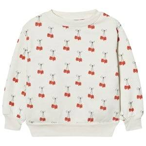 The Animals Observatory Unisex Jumpers and knitwear Cream Bear Sweatshirt White Cherries
